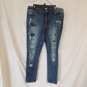 Faded Glory Womens Distressed Skinny Womens 10